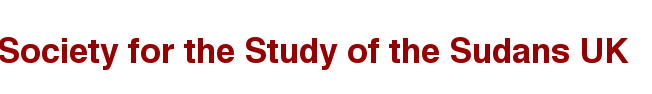 Banner: Society for the Study of the Sudans UK